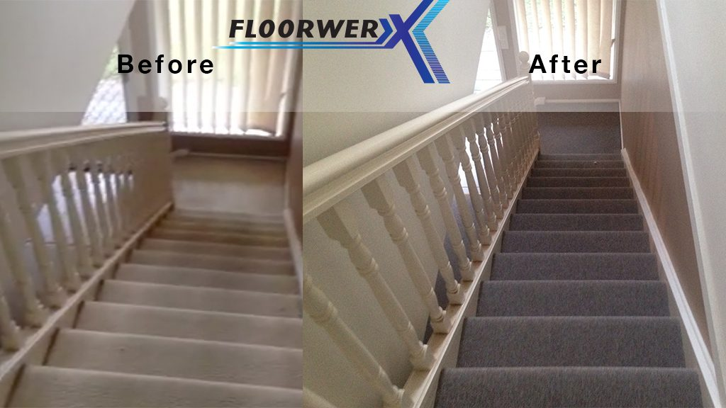 Carpet installation –  before and after by Floorwerx in Southport