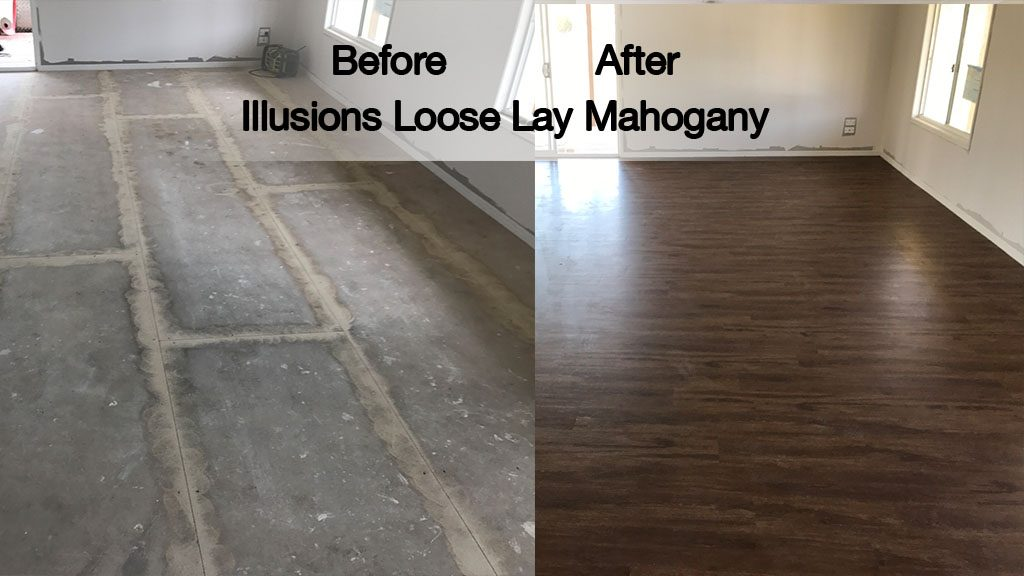 Illusions Loose Lay Planks – Mahogany – Installation