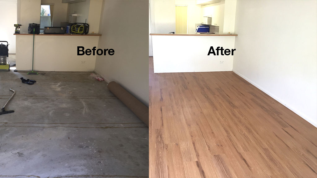 Illusions Golden Pine Before After