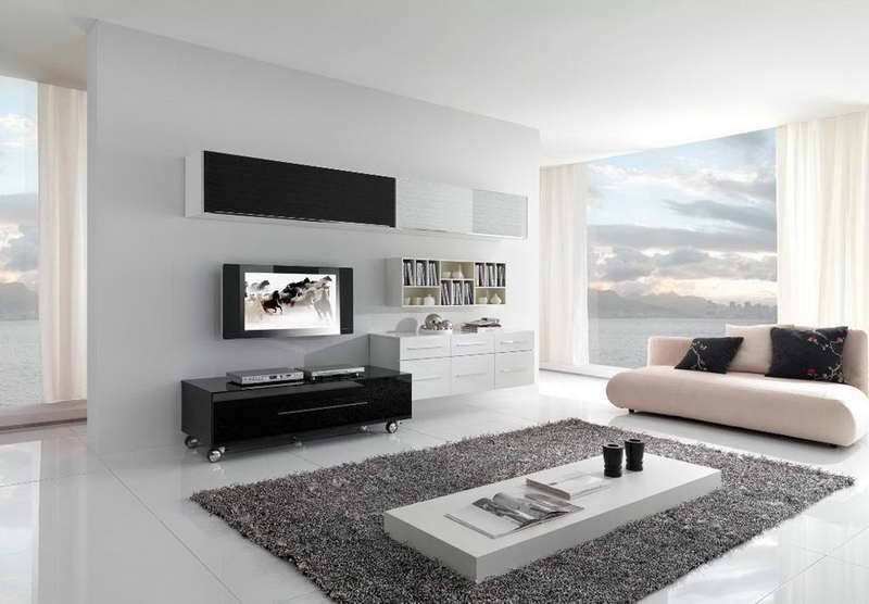 Contemporary Living Room Decor Ideas With Gray Carpet